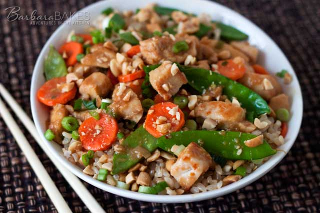 Quick and Easy Kung Pao Chicken recipe from Barbara Bakes