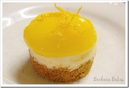 Mini Cheesecakes with Lemon Curd Recipe | Barbara Bakes
