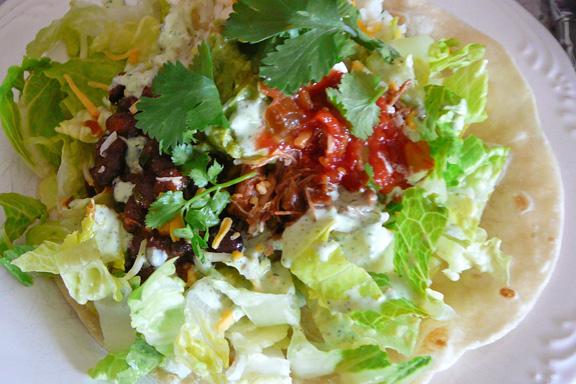 Cafe Rio Barbacoa Pork Salad Recipe