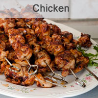 BBQ Chicken Kebabs with a Spicy Bacon Rub