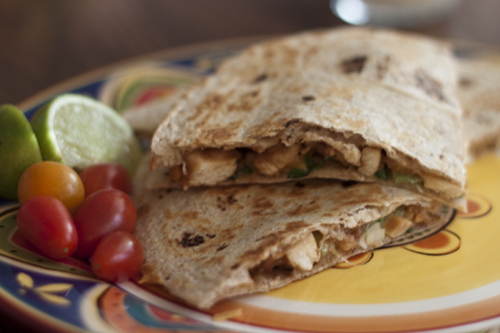 Thai Peanut Quesadillas