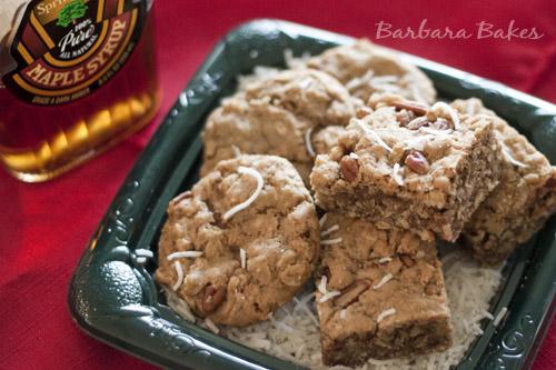 Maple Pecan Cookie Recipe | Maple Coconut Cookie | Barbara Bakes