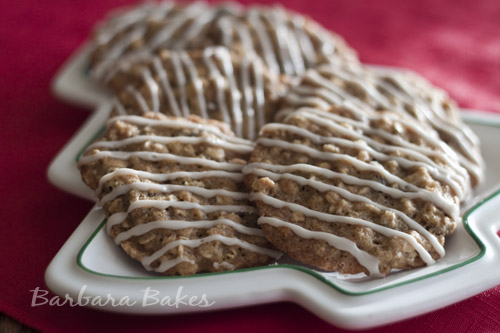 Iced Oatmeal Applesauce Cookie Recipe Barbara Bakes