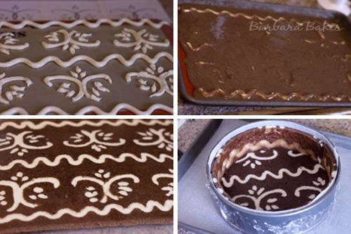 Joconde Cake With Chocolate Design : Strawberry Cheesecake Entremet for Daring Bakers Barbara ...