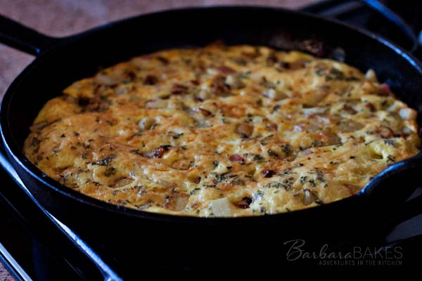 Easy to Make Bacon and Potato Frittata Recipe