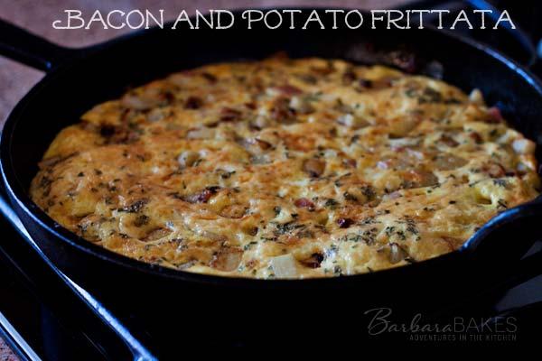 Bacon and Potato Frittata Recipe @BarbaraBakes