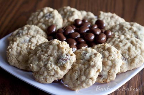 Oatmeal Raisinet Cookies | Barbara Bakes
