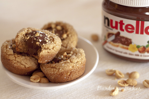 Peanut Butter Nutella Cookie Cups