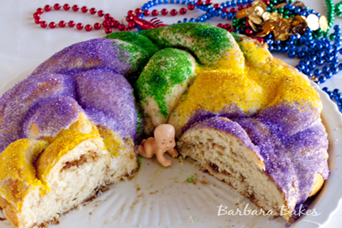 Mardi Gras King Cake recipe | Barbara Bakes