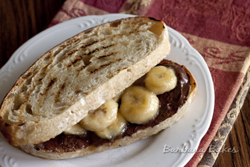 dessert sandwich or perfect for lunch like the nutella banana sandwich ...