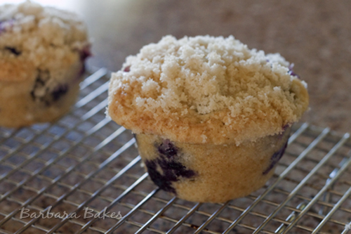 These are the Best Blueberry Streusel Muffins! They're big, beautiful ...