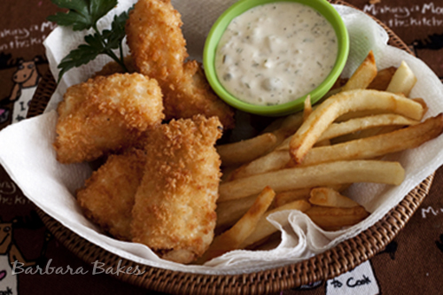 Halibut Fish and Chips with Market Street Tartar Sauce | Barbara Bakes