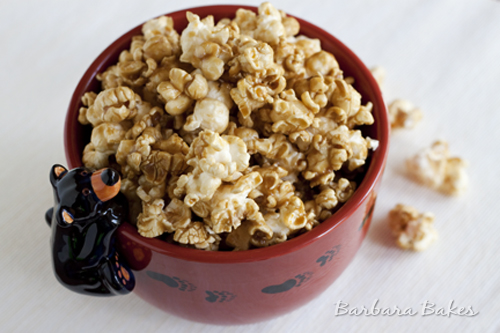 Microwave Caramel Popcorn and Cookbook Giveaway