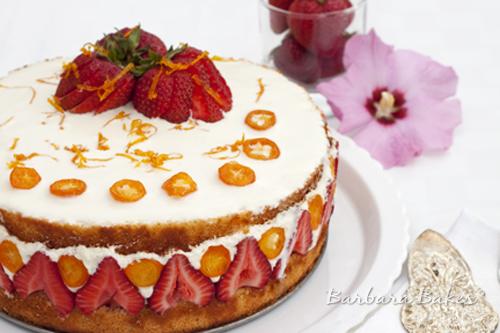 Strawberry Mango Fraisier Recipe Barbara Bakes