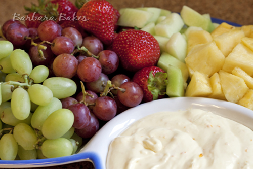 Creamy Orange Fruit Dip and a Virtual Baby Shower