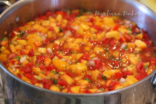 ... peach and tomato salsa, but if you don't have peach salsa available
