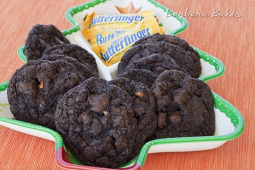 Chocolate Fudge Butterfinger Cookies