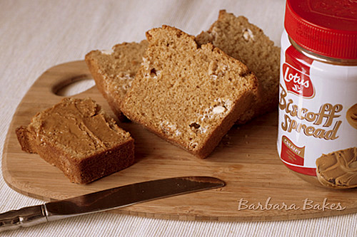 Biscoff White Chocolate Chip Quick Bread