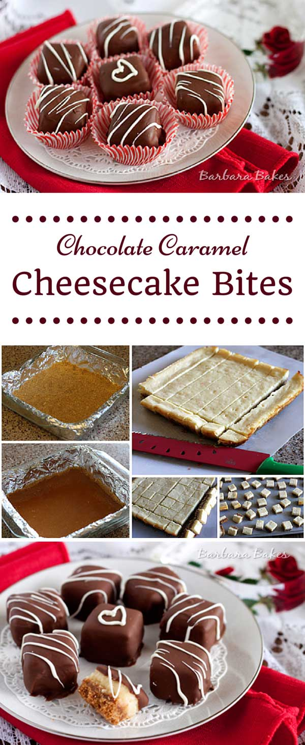 Cheesecake with a layer of caramel over a graham cracker crust wrapped in luscious chocolate.