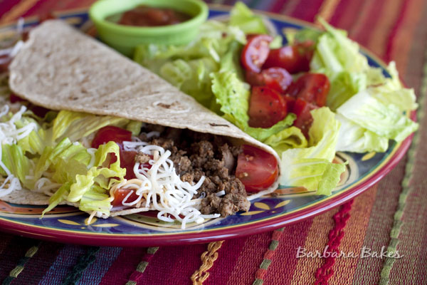 Easy ground beef tacos recipe barbara bakes for What meals can i make with ground beef