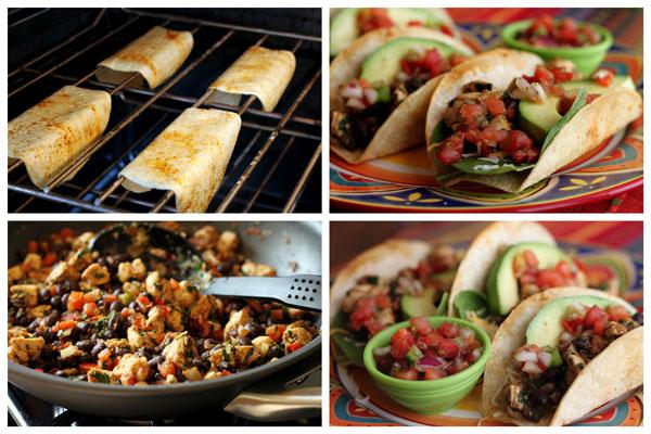 Crispy Baked Chicken and Black Bean Taco Recipe | Barbara Bakes