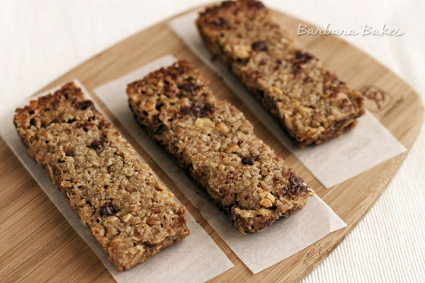 Homemade Chewy Peanut Butter Chocolate Chip Granola Bars