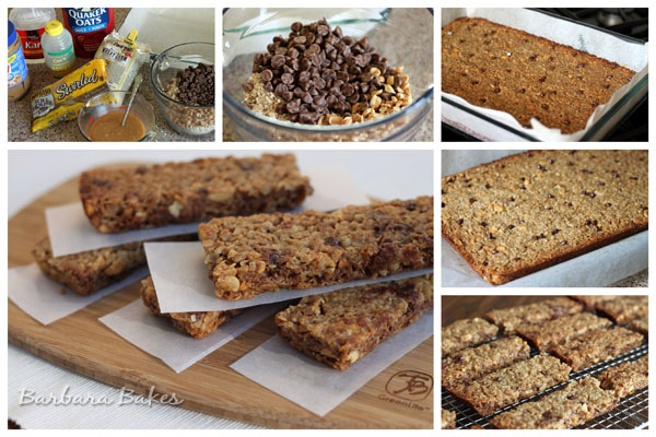 How to Make Chewy Peanut Butter Chocolate Chip Granola Bars