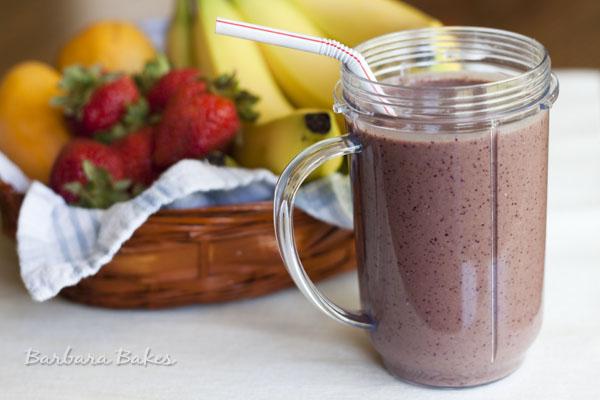 Berry Yogurt Smoothie - Barbara Bakes