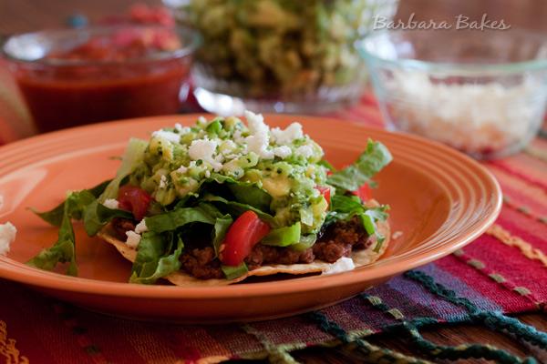 Black Bean Tostadas with Sweet Corn Guacamole