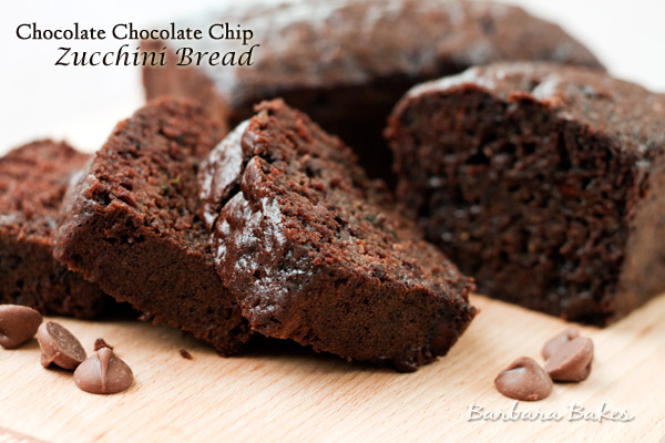 Chocolate Chocolate Chip Zucchini Bread