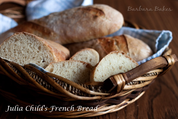 Julia Child's French Bread adapted from the home kitchen.