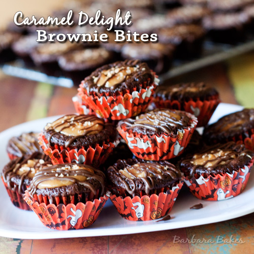 Caramel Delight Brownie Bites Barbara Bakes