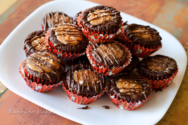 Caramel Delight Brownie Bites | Barbara Bakes