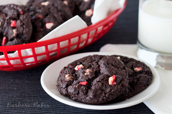 Christmas Cookie Recipe #1 - Chocolate Peppermint Crunch Cookies