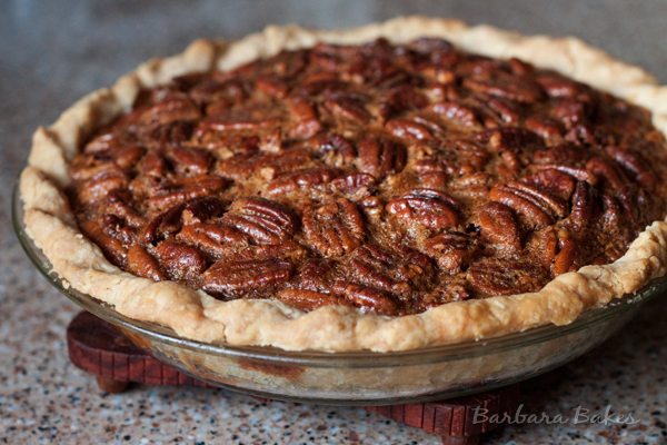 by a sweet, rich sticky filling in a flaky pie crust. Pecan pie ...