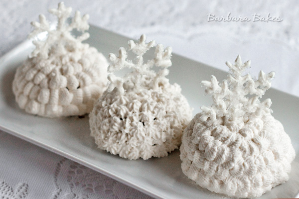 Chocolate Snowballs with White Chocolate Snowflakes