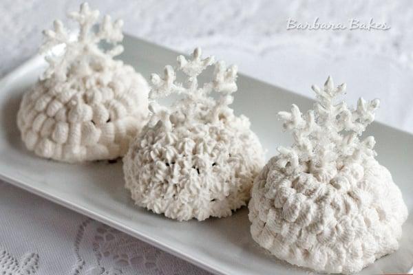 Chocolate Snowballs with White Chocolate Snowflakes