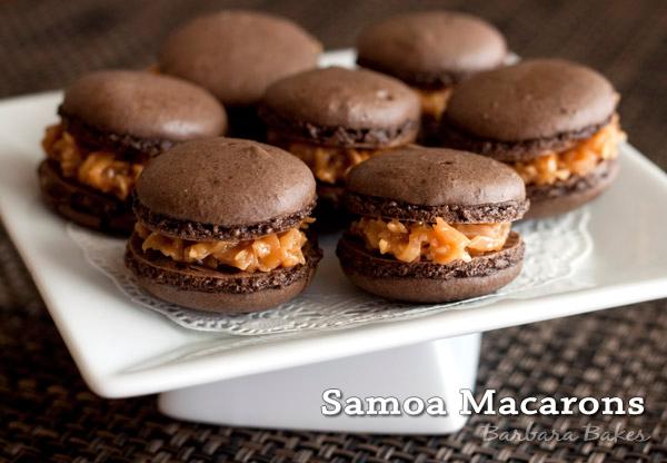 Samoa Macarons Barbara Bakes