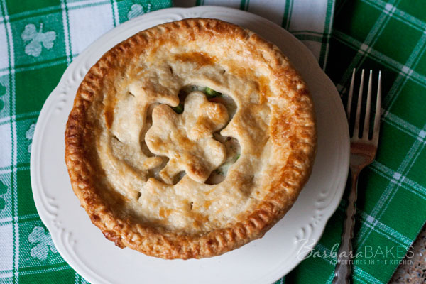 St. Patrick's Day Chicken Pot Pie