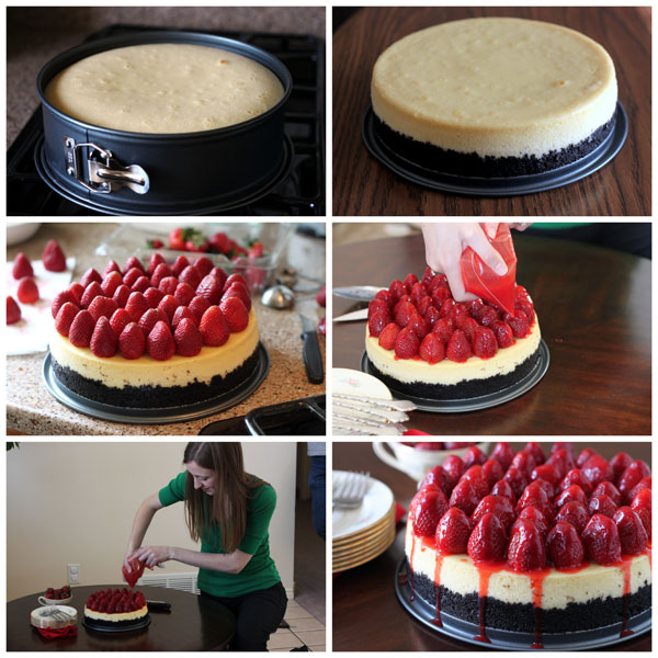 Strawberry Cheesecake with an Oreo Cookie Crust Collage