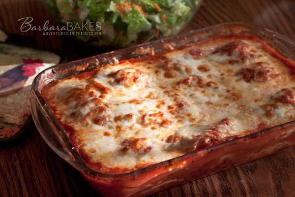 Baked Caprese Ravioli Recipe | BarbaraBakes.com