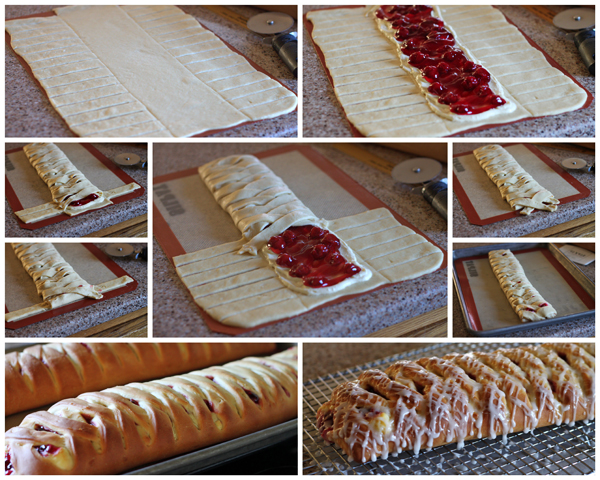 Cherry 'n Cheese Lattice Coffeecake