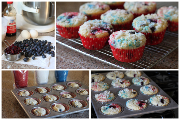 4th of July Muffins Collage | BarbaraBakes.com