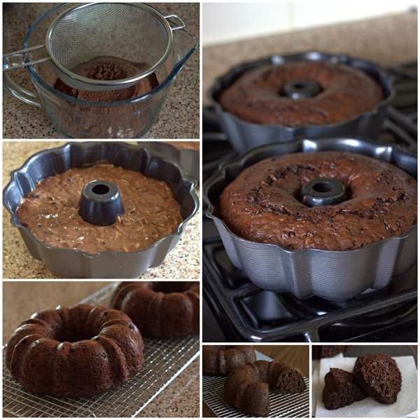 Chocolate Zucchini Bundt Cake Collage - BarbaraBakes.com