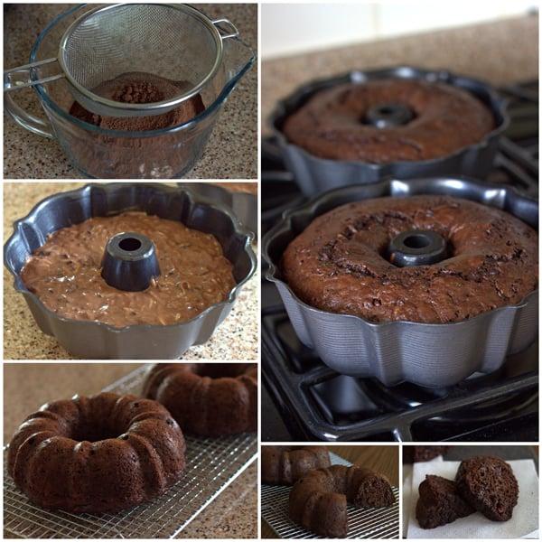 Chocolate Zucchini Bundt Cake Collage - BarbaraBakes.com