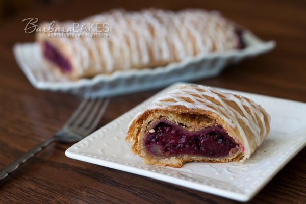 Triple Berry Strudel Recipe | BarbaraBakes.com
