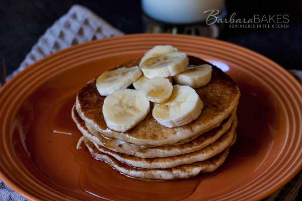 Whole Wheat Banana Pancakes | Barbara Bakes