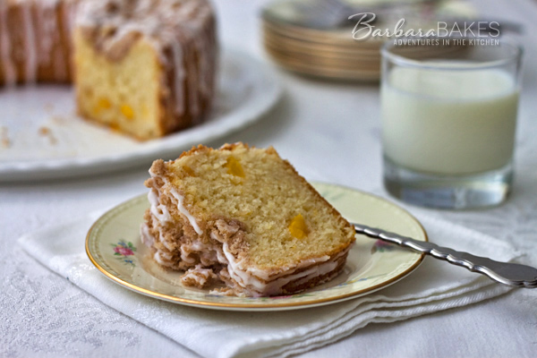 Fresh Peach Coffee Cake | Barbara Bakes