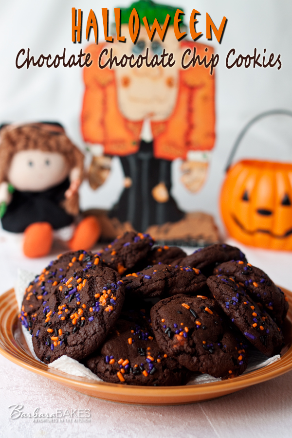 Halloween Chocolate Chocolate Chip Cookies | Barbara Bakes