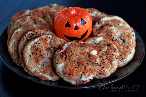 Halloween Snickerdoodles with Cinnamon Chips
